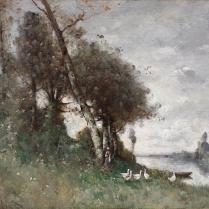 Paul-Désiré Trouillebert (1829-1900) - The goose keeper