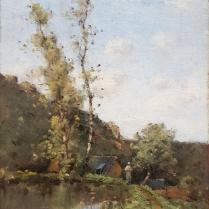 Paul-Desiré Trouillebert (1829-1900) - The Mill pond