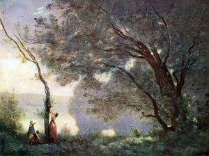 Jean-Baptiste Camille Corot - Souvenir de Mortefontaine, 1864 - Huile sur toile - Paris, musée du Louvre