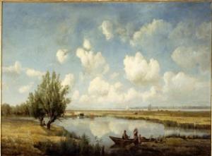 Charles Le Roux - Prairies et marais de Corspt, à l'embouchure de la Loire - Musée d'Orsay