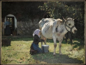Julien Dupré - La vache blanche - Paris, Musée d'Orsay