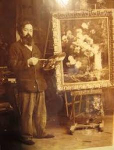 Gustave Bienvêtu dans son atelier à Colombes