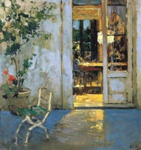 Vincenzo Irolli - La salle à manger éclairée - Bari, Pinacoteca Provinciale