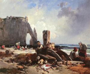 Eugène Modeste Le Poittevin - Étretat - Musée de Fécamp