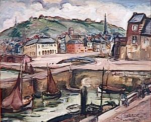 Achille-Emile Othon Friesz - Le port d'Honfleur - Troyes, Musée d'Art Moderne