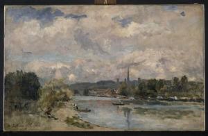 Albert Lebourg - L'île Lacroix à Rouen - Lille, Palais des Beaux-Arts
