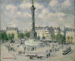 Gustave Loiseau - La Place de la Bastille, 1922 - New York, MET