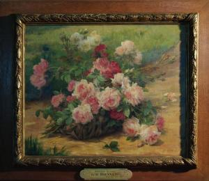 Gustave Bienvêtu - Bourriche de roses - Musée de Saint Nazaire
