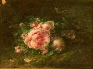 André Benoît Perrachon Bouquet de roses        Tournus, Musée Greuze