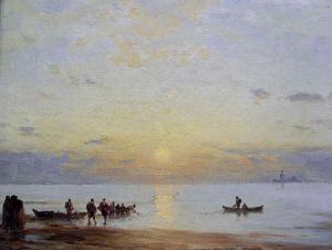 Amédée Rosier - Soleil couchant sur la lagune - Pau, Musée des Beaux-Arts