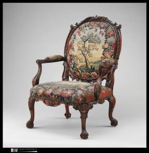 Fauteuil à la reine garnis d'une tapisserie de Beauvais - New York, Metropolitan Museum of Art