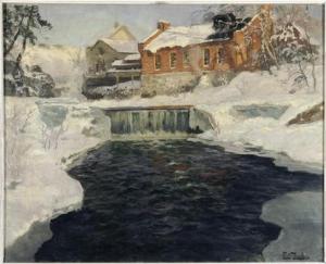 Fritz Thaulow - Paysage de neige - Paris, Petit Palais