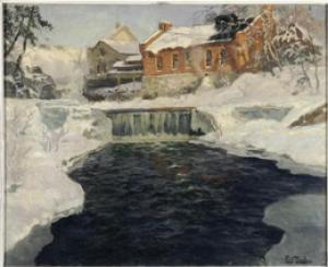 Fitz Thaulow - Paysage de neige - Paris, Petit Palais