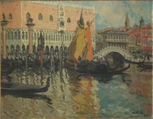 Louis Abel-Truchet - Le Palais des Doges, Venise - Paris, Musée d'Orsay