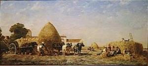 Jules Jacques Veyrassat - Le repas des moissonneurs - Chartres, Musée des Beaux-Arts