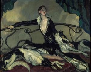 Jean-Gabriel Domergue - La Femme aux lévriers - Paris, Musée d'Art Moderne