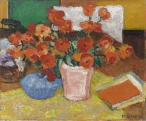 Charles Kvapil - Fleurs rouges - Lille, Palais des Beaux-Arts