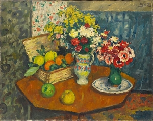 Georges d'Espagnat - Nature morte de fleurs et de fruits - New York, MoMa
