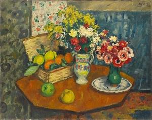 Georges d'Espagnat - Nature morte de fleurs et de fruits - New York, MoMa