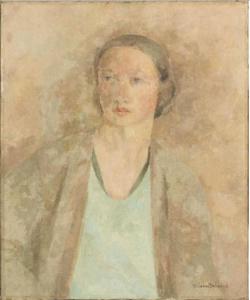 Thérèse Debains - Portrait de femme au corsage vert - Paris, Centre Pompidou