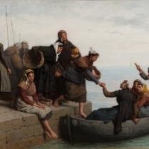 Jacques Eugène Feyen (1815-1908) - Embarquement des pêcheuses cancalaises, 1878